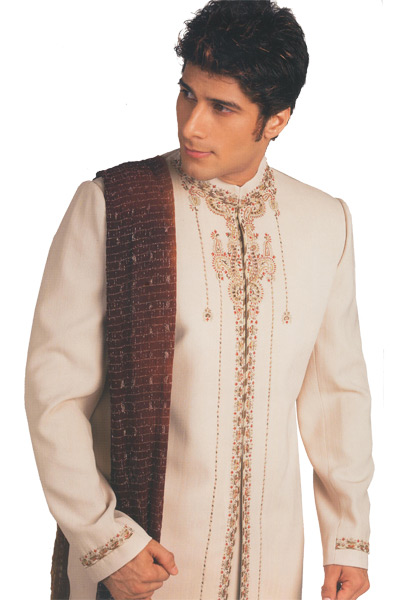 Cream Sherwani