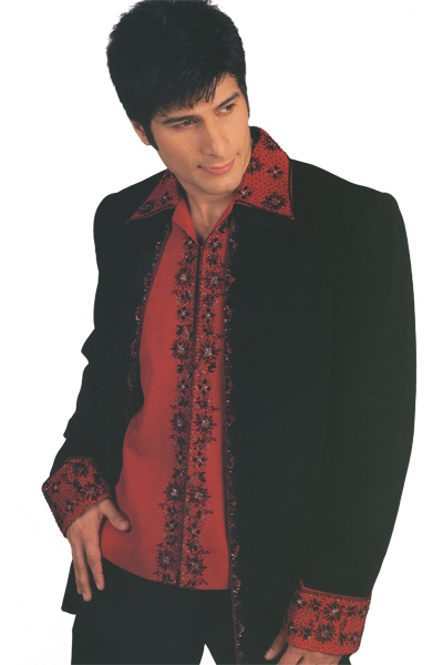 Black and Red Designer Suit